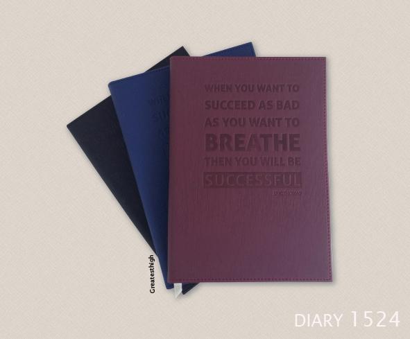 Diary no. DA 1524 , Success