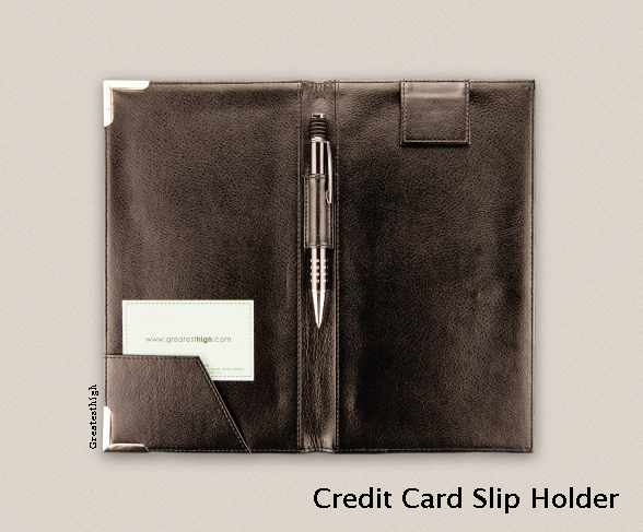 Credit card slip holder