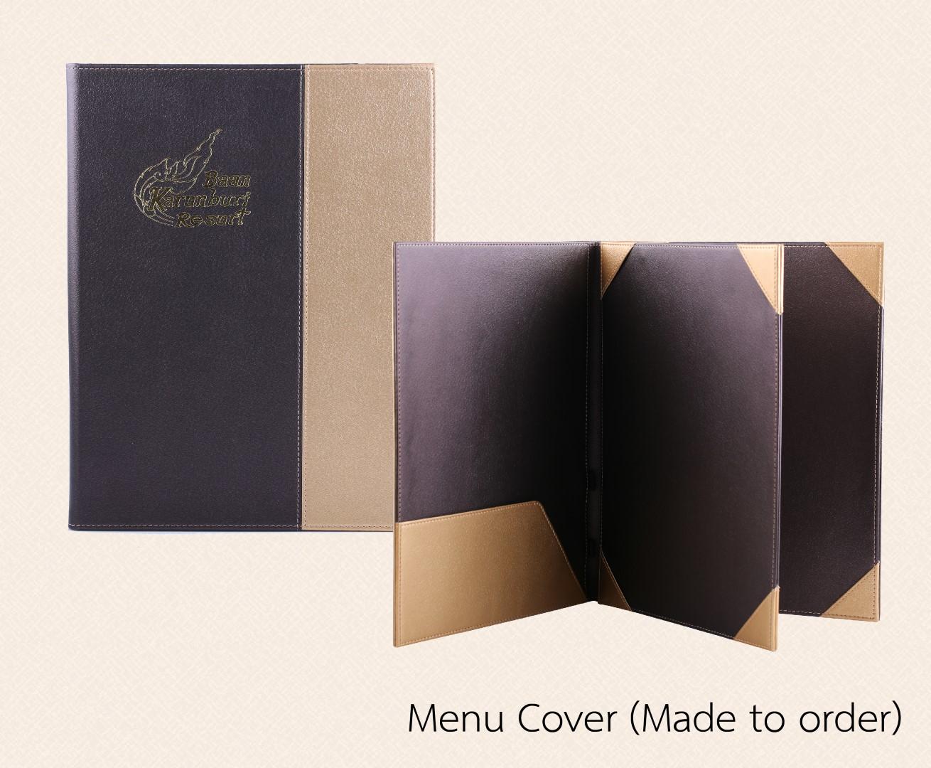 ปกเมนู เมนูปกหนัง ปกหนัง 3 ตอน 3 fold menu cover (Large)