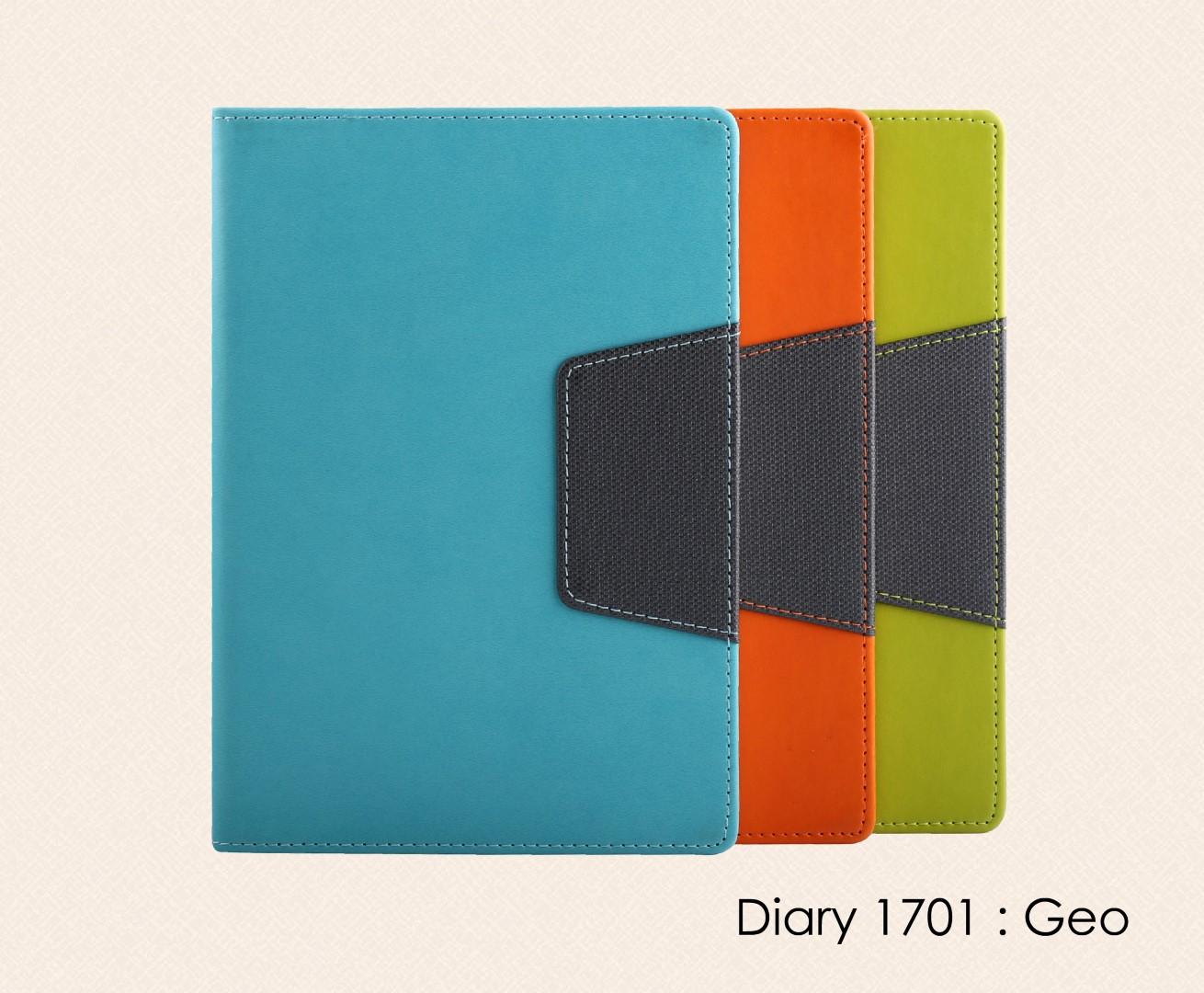 สมุดโน๊ต ไดอารี่ ปกหนัง Notebook Diary : DA 1701 Geo
