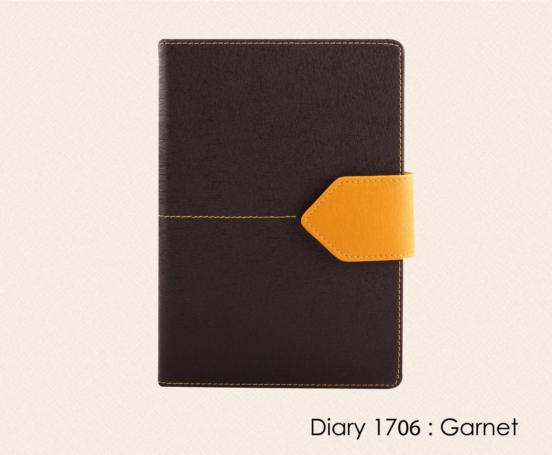 สมุดโน๊ต ไดอารี่ ปกหนัง Notebook Diary : DA 1706 Garnet