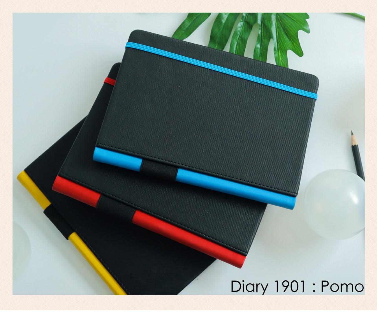 สมุดโน๊ต ไดอารี่ ปกหนัง Notebook Diary : DA 1901 Pomo