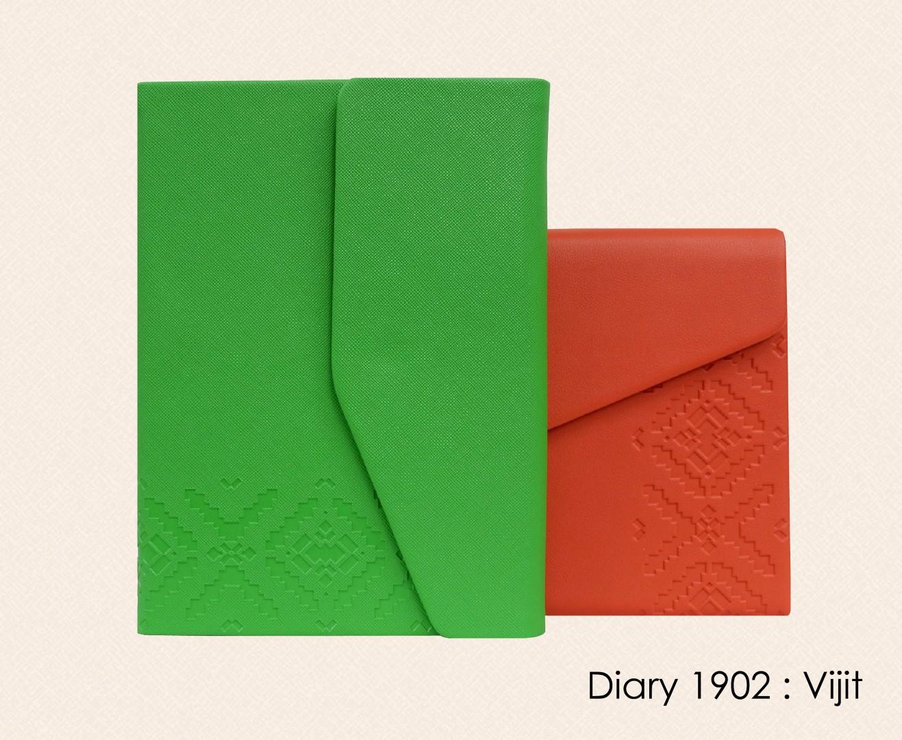สมุดโน๊ต ไดอารี่ ปกหนัง Notebook Diary : DA 1902 Vijit
