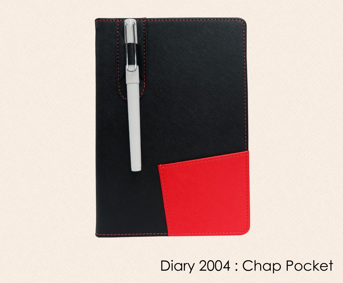 สมุดโน๊ต ไดอารี่ ปกหนัง Notebook Diary : DA 2004 chap pocket