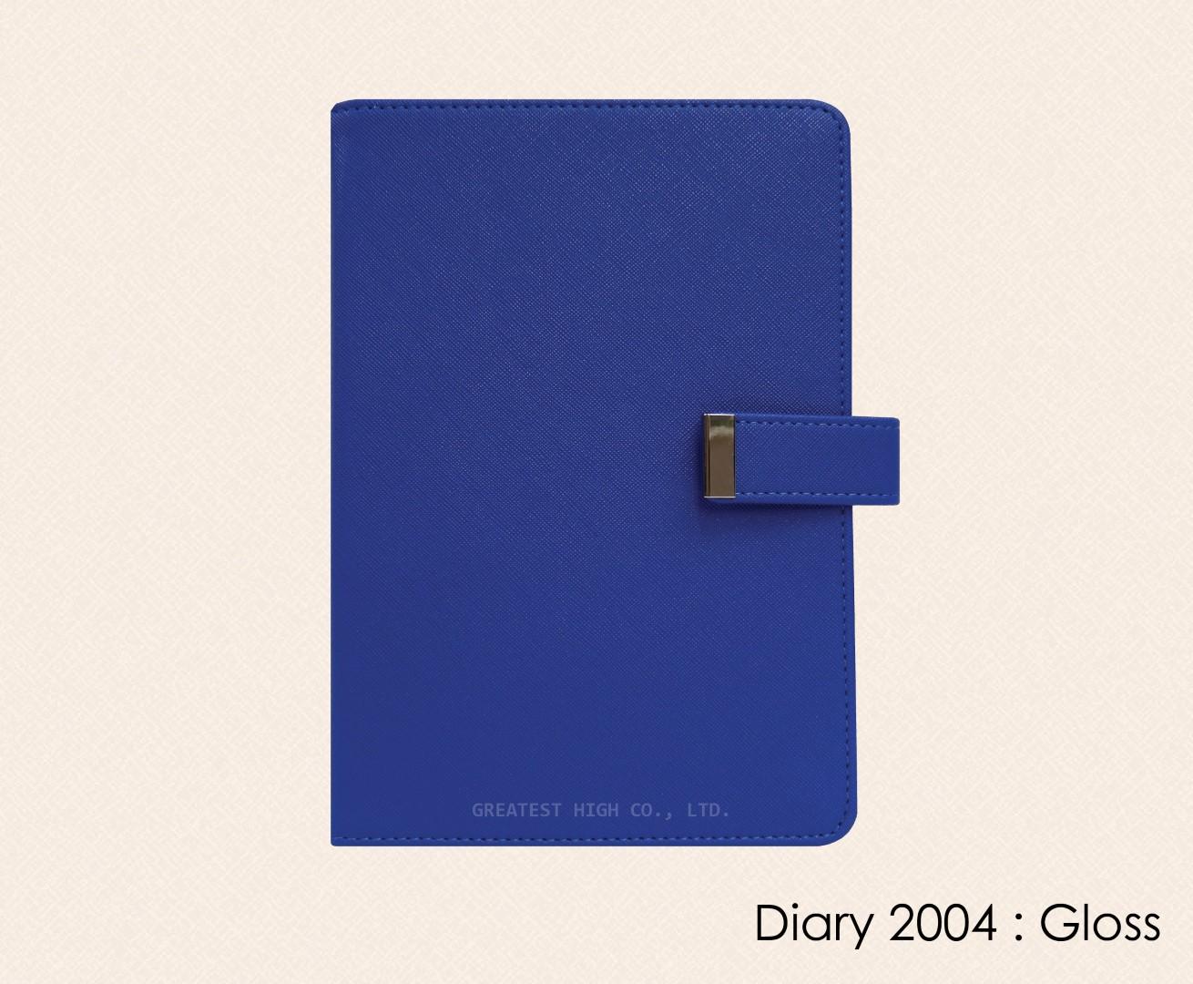 สมุดโน๊ต ไดอารี่ ปกหนัง Notebook Diary :  DA 2024 Gloss