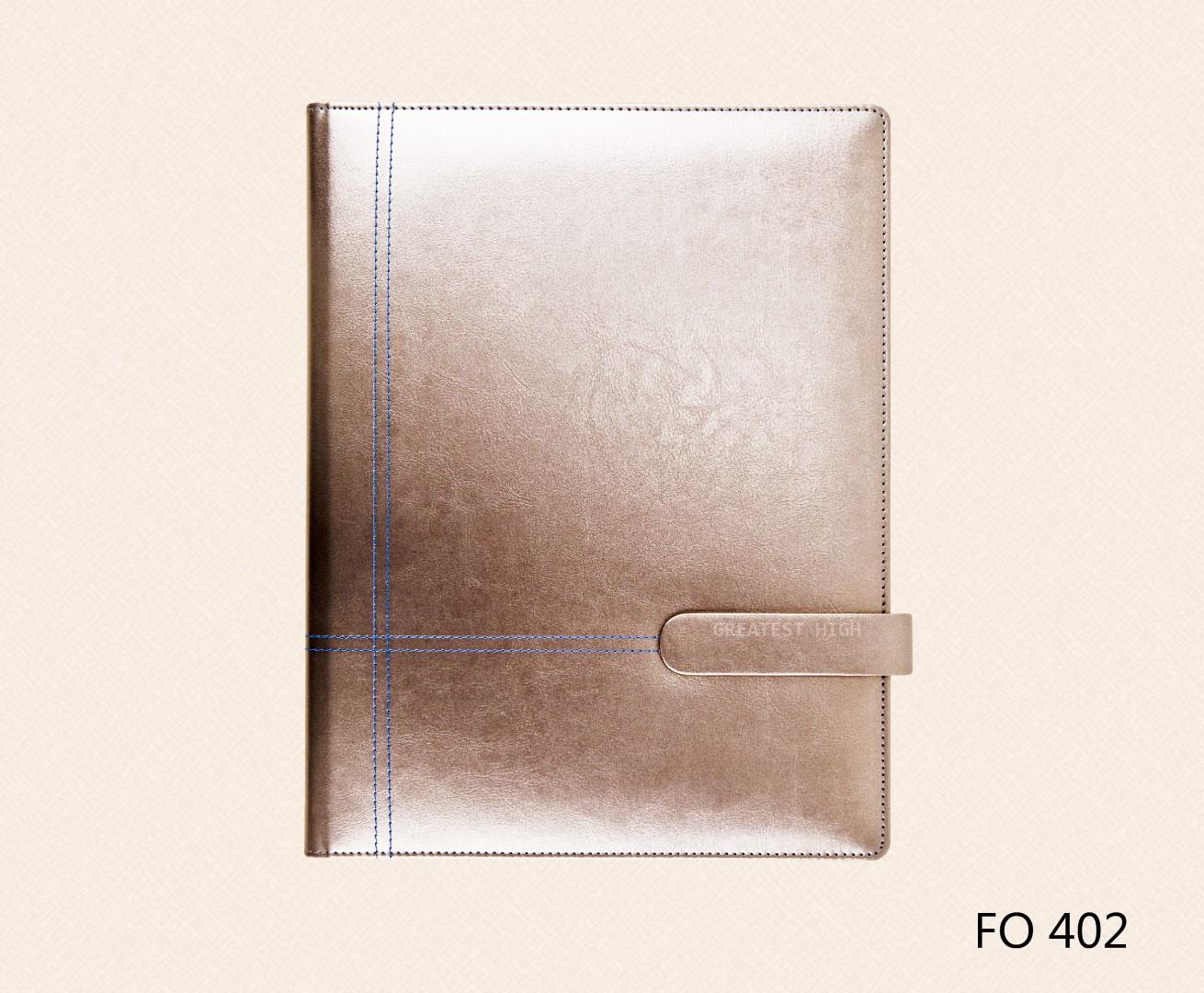 แฟ้มหนังเทียม แฟ้ม A4 Folder : FO 402
