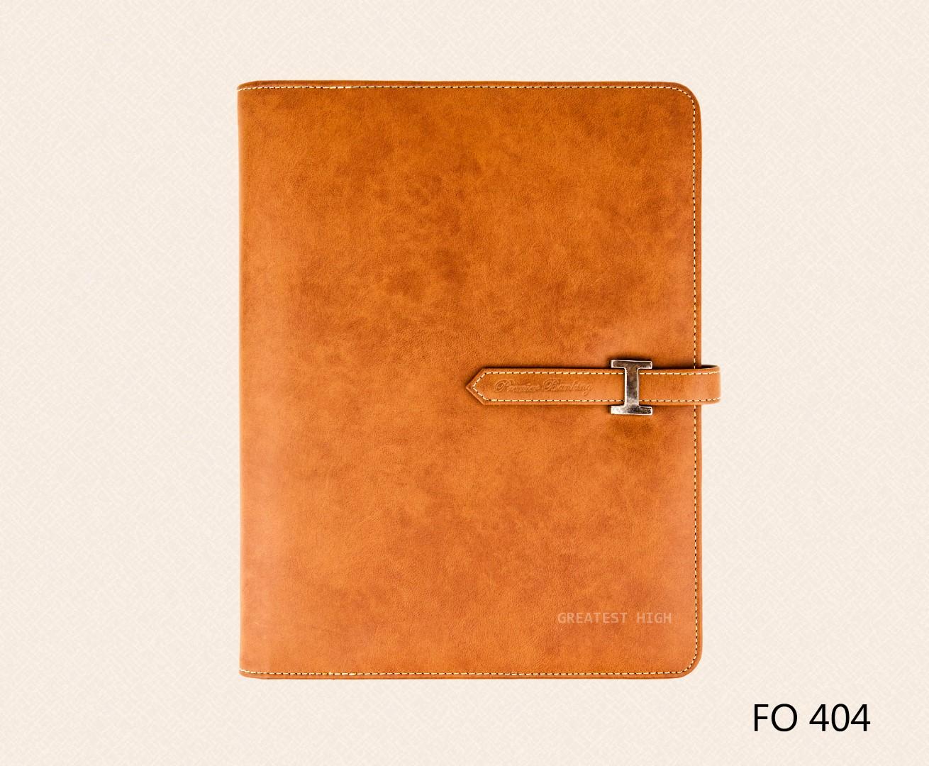 แฟ้มหนังเทียม แฟ้ม A4 Folder : FO 404