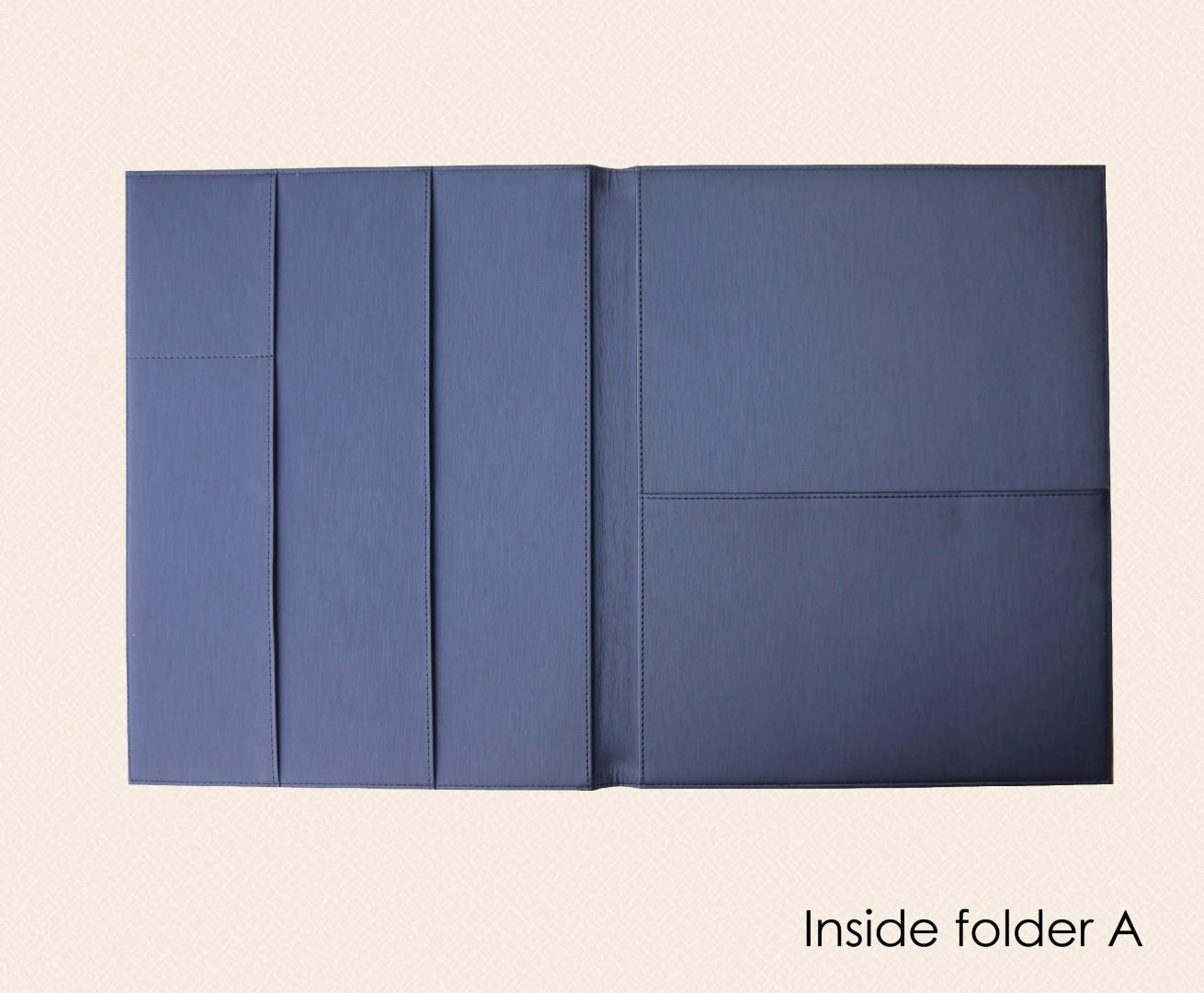 ด้านแฟ้ม แบบ A / Inside folder A