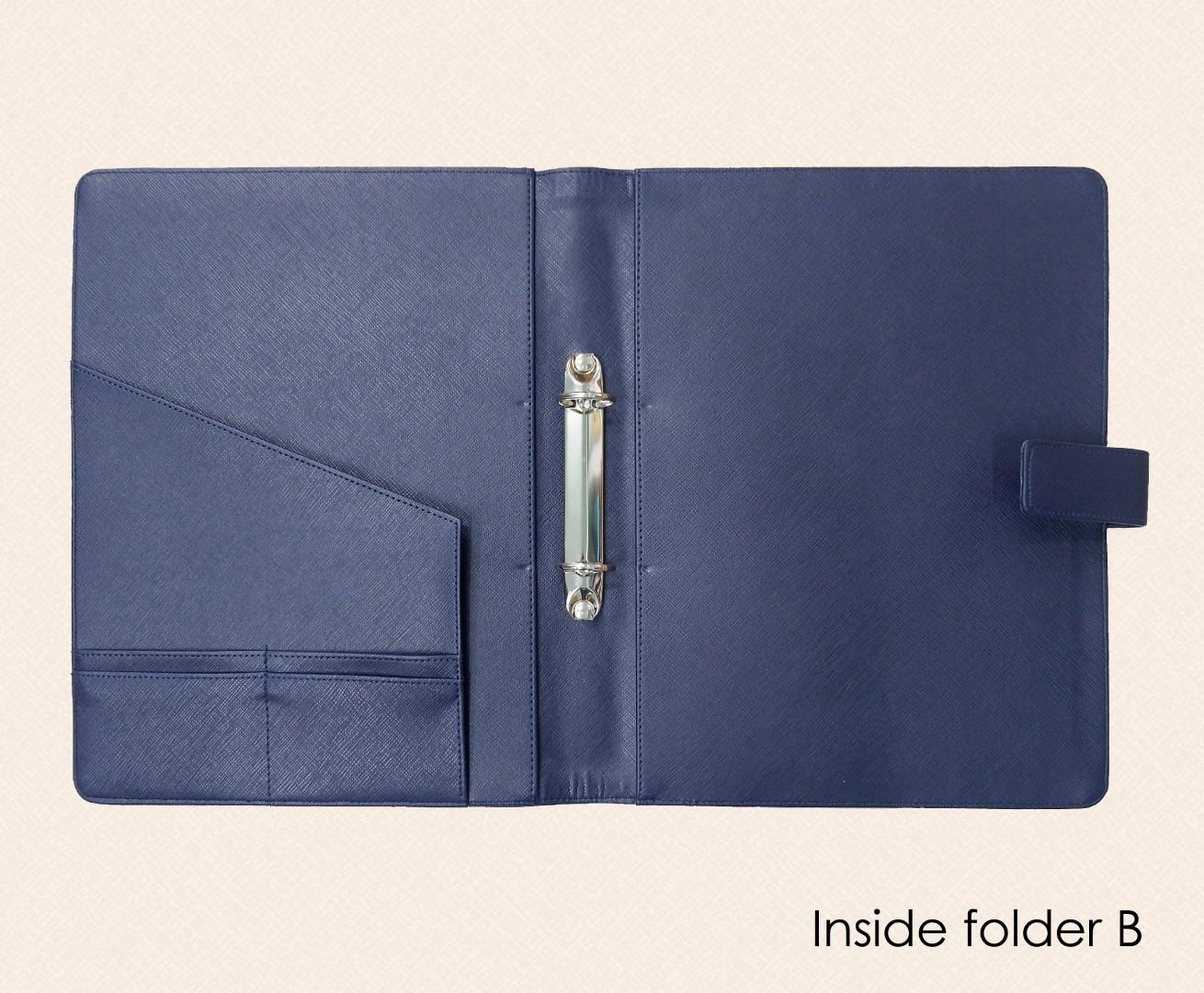 ด้านแฟ้ม แบบ B / Inside folder B