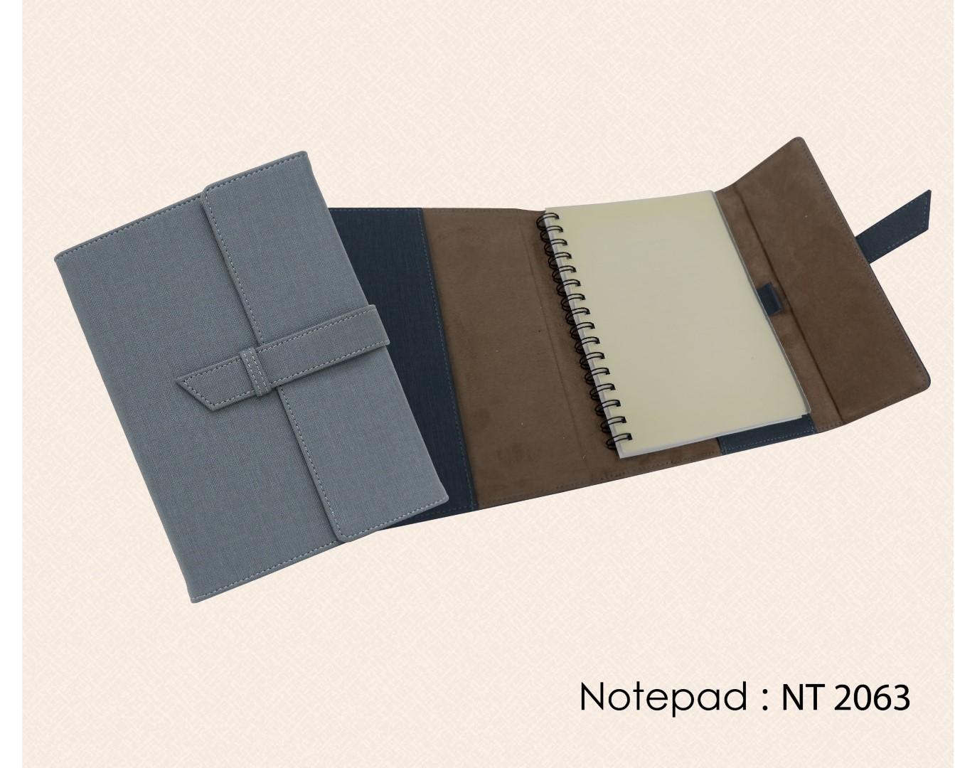 สมุดโน๊ต สมุดปกสอด ปกหนัง Notebook Notepad : NT 2063
