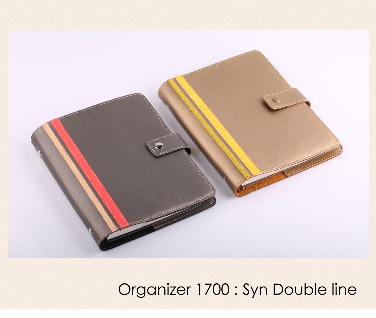 สมุดออร์กาไนเซอร์ Organizer : OR 1600 - Syn double line (หนังเลียนแบบหนังแท้ สวยเหมือนหนังแท้)