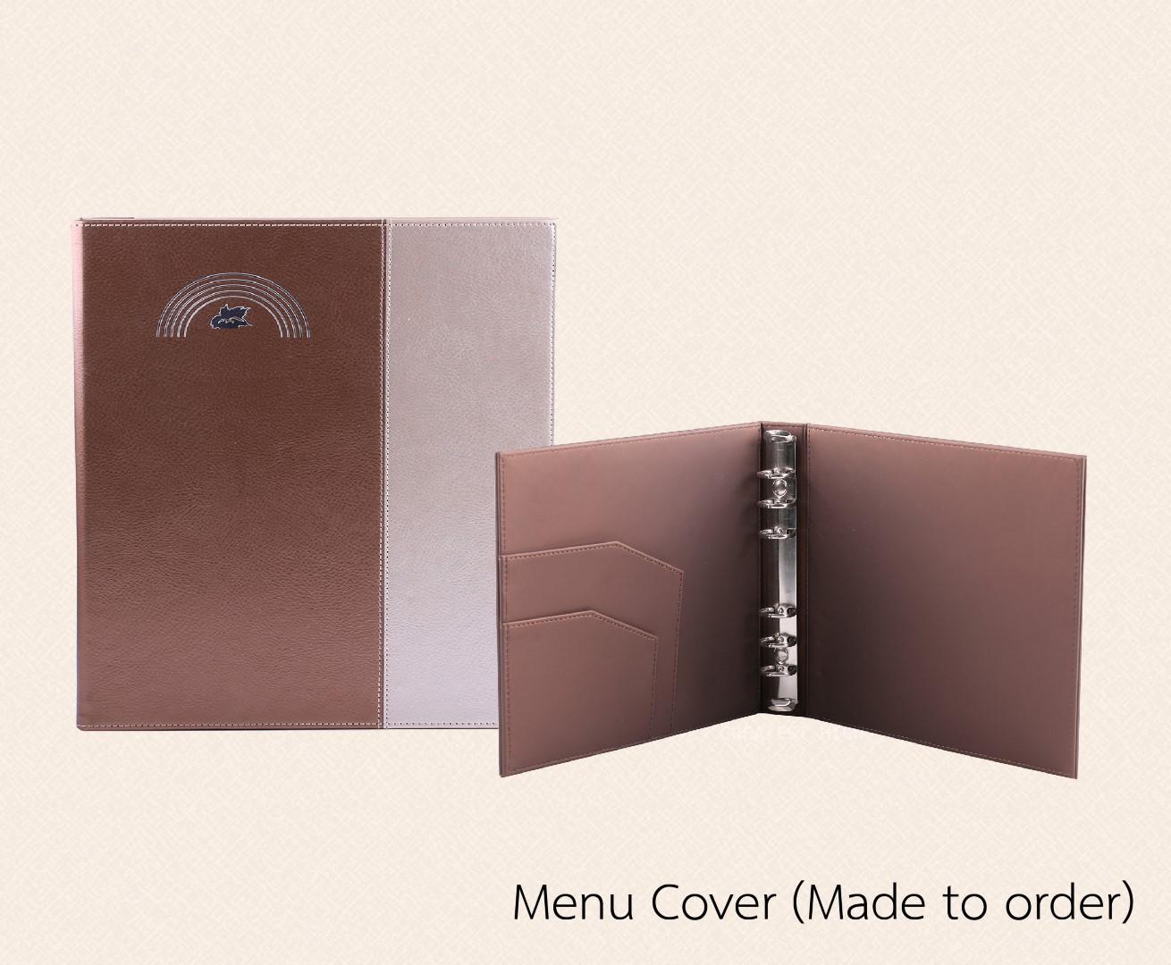 ปกเมนู เมนูปกหนัง ปกเมนูตามสั่ง Made to order Menu Cover