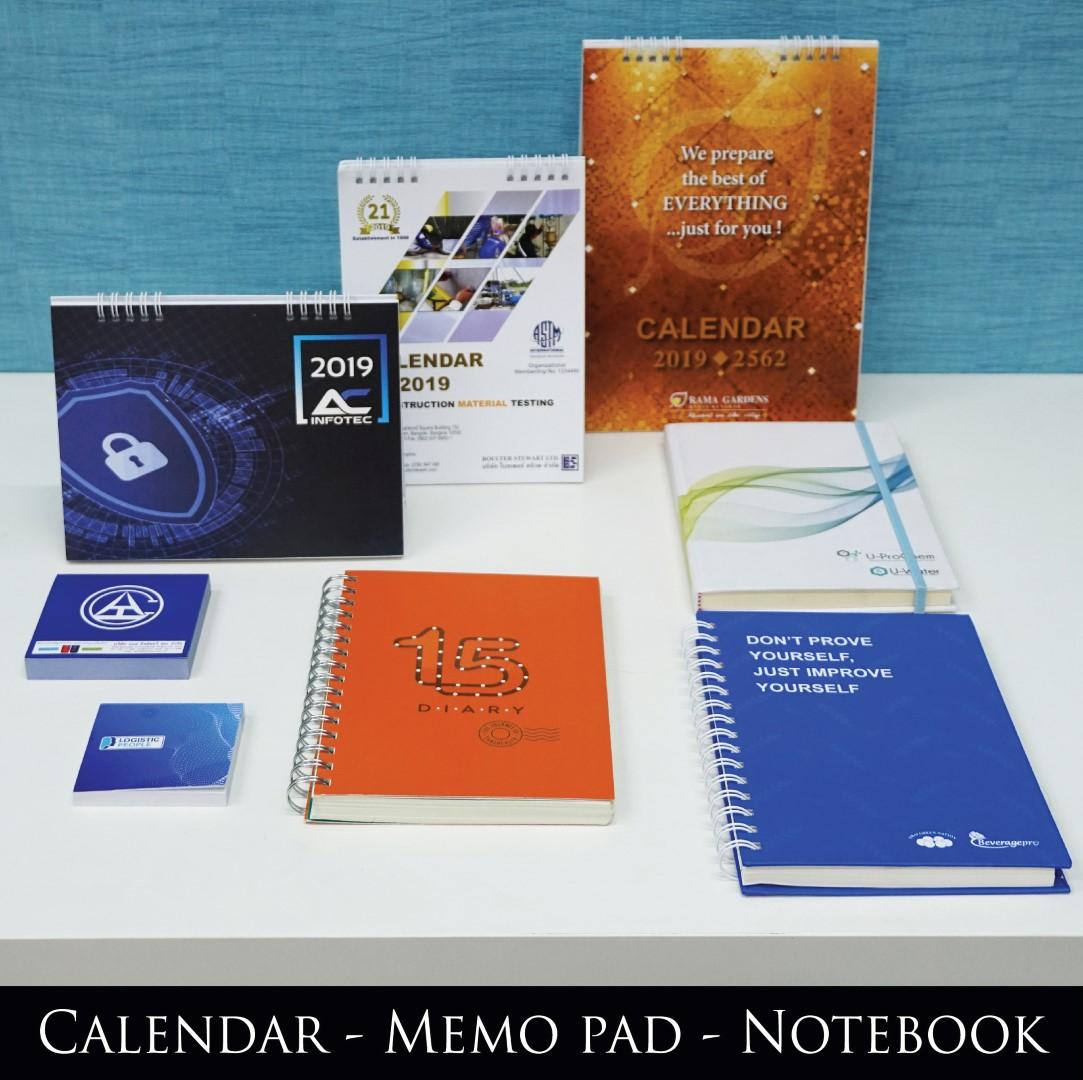 Calendar-Memo Pad-Notebook
