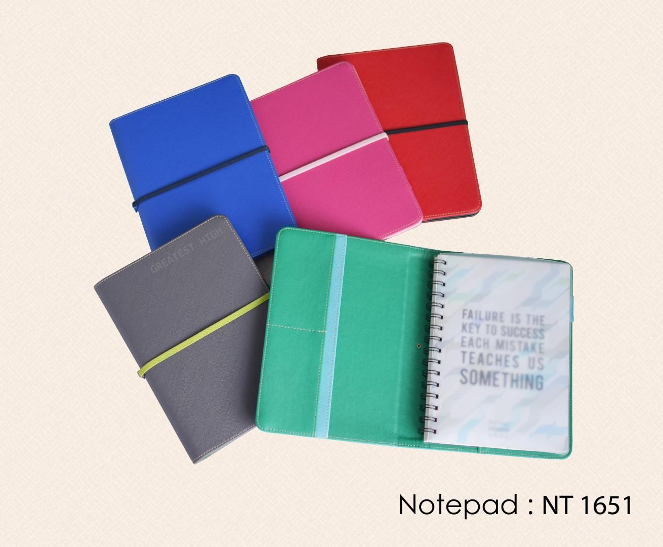 สมุดโน๊ต สมุดปกสอด ปกหนัง Notebook Notepad : NT 1651