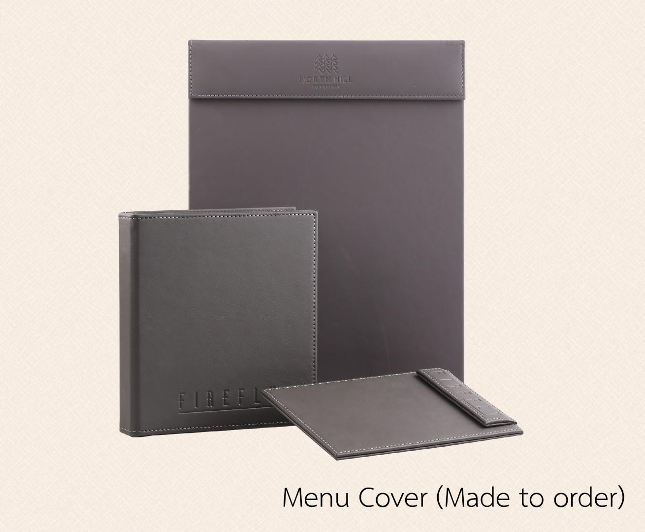 ปกเมนู เมนูปกหนัง  แฟ้มเมนู ปกเมนูตามสั่ง  Made to order Menu Cover