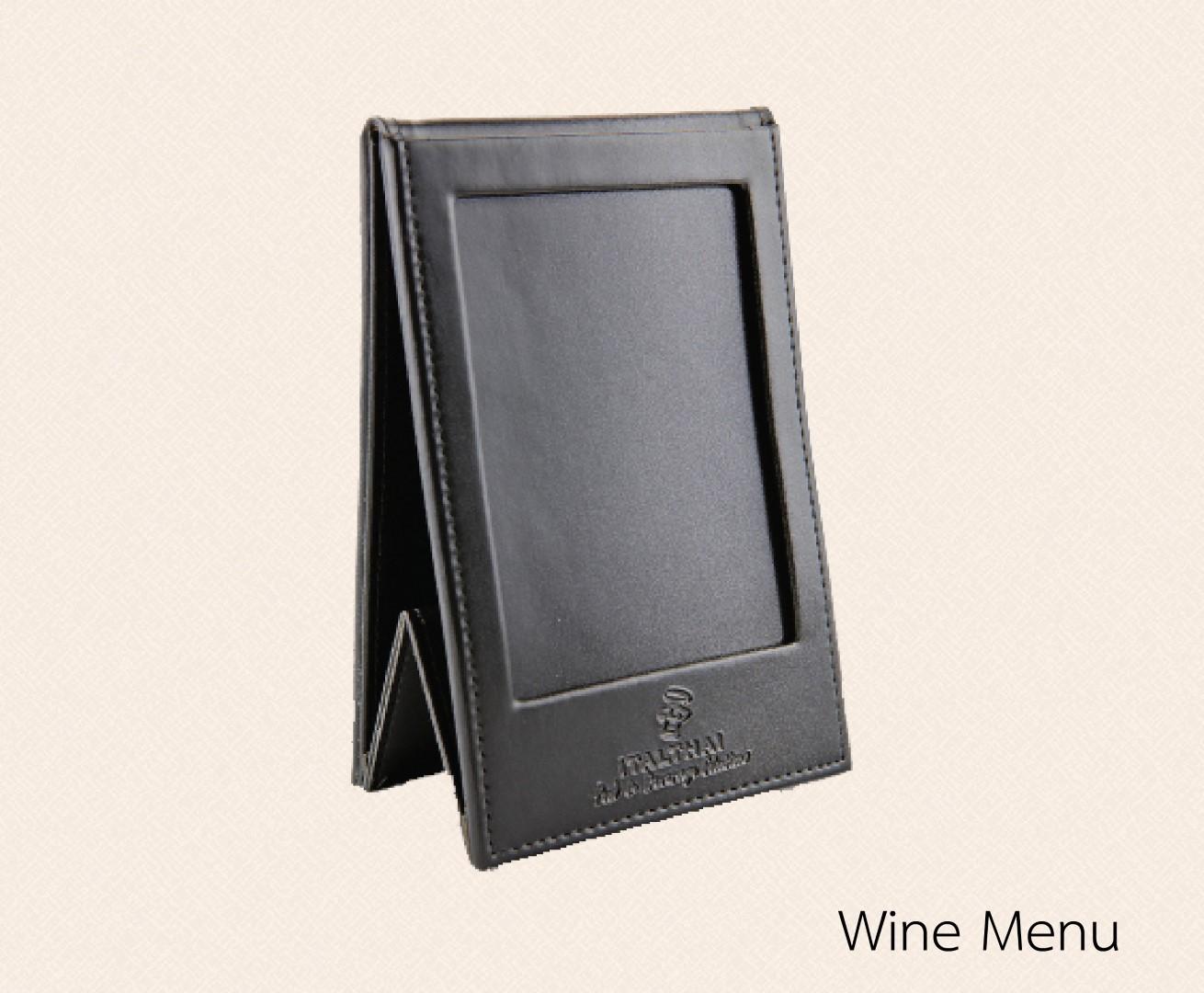 เมนูตั้งโต๊ะ stand menu / wine menu